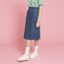 덴스(THENCE) PINK STITCH SKIRT