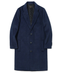 유니폼브릿지() 16aw wool single coat melange blue