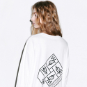 덴스(THENCE) BOXY TEE LONG_WHITE_WTG