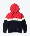 SHUTTER COLOR BLOCK HOODIE (RED)