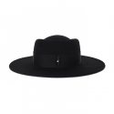 어썸니즈(AWESOME NEEDS) WOOL FELT PORK PIE HAT_BLACK_black strap