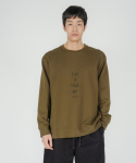 로우 투 로우(RAW TO RAW) let it that go sweatshirt(olive)