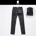 # zb zipper black coating denim
