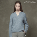 메케나(MEKENNA) MeKENNA V-neck slit O ring zip up blouse_MX2Y4BL0010