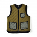 16FW QUILTED REVERSIBLE VEST OLIVE