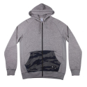 크룩스앤캐슬(CROOKS & CASTLES) CROOKS & CASTLES Mens Knit Zip Hoodie (GREY /Tiger Denim)