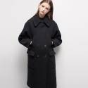 룩캐스트(LOOKAST) BLACK OVERSIZED POCKET COAT