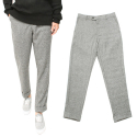 니드() Pin Check Woolen Slacks (Gray)