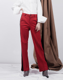 비에이블투(B ABLE TWO) Side Line Wide Pants (RED)