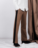 비에이블투(B ABLE TWO) Side Line Wide Pants (CAMEL)