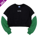 네스티팜(NASTY PALM) [NYPM] CRUSH COLORATION SWEATSHIRTS (GREEN)