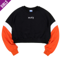 네스티팜(NASTY PALM) [NYPM] CRUSH COLORATION SWEATSHIRTS (ORANGE)