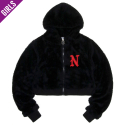 네스티팜(NASTY PALM) [NYPM] FRUFFY NASTY ZIPUP HOODY (BLK)