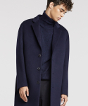퍼스트플로어(FIRSTFLOOR) [17 F/W] THE EASY COAT (BLUE NAVY cashmere blended)