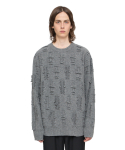 [VUIEL] [MEN] FRINGED HEAVY SWEATER _ LM.GREY [뷔엘]