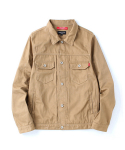 Cotton Trucker Jacket Beige