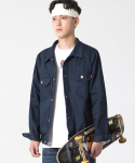 Cotton Trucker Jacket Navy