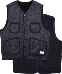 크래프티드(KRAFTED) BLACK REVERSIBLE VEST
