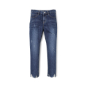 에센시(ESSENSI) [ESSENSI] DARK DESTROYED STRAIGHT JEANS (ES1GFFPA50C)