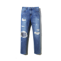 에센시(ESSENSI) [ESSENSI] DAMAGED MEDIUM STRAIGHT JEANS (ES1GFFPA30C)