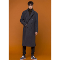 아워히스토리() Double Long Coat_Charcoal