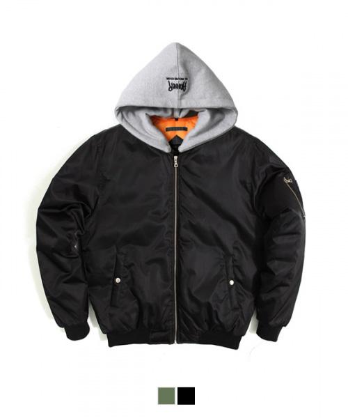 어커버_Hood MA-1 Padding Jacket