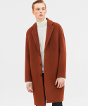 퍼스트플로어(FIRSTFLOOR) EASY COAT (BRICK ORANGE_cashmere blended)