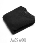 쟈니웨스트() [Lambs Wool] 8 Cable Knit (Black)