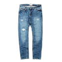 세인트페인(SAINTPAIN) SP PETER DAMAGE DENIM PANTS-BLUE