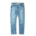 세인트페인(SAINTPAIN) SP PETER DAMAGE DENIM PANTS-LIGHT BLUE
