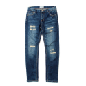 세인트페인(SAINTPAIN) SP KRUGER CRUSH DENIM PANTS-BLUE