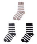 [3개 SET] MILESTONE awning stripe socks 3P