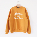 ALWAYS NAPPING SWEATSHIRT_MUSTARD