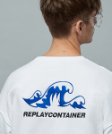 리플레이컨테이너(REPLAY CONTAINER) blue wave mtm (white)