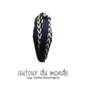 오뜨르 뒤 몽드(AUTOUR DU MONDE) SIMPLE TWIST HAIRBAND (NAVY)
