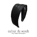 오뜨르 뒤 몽드(AUTOUR DU MONDE) PLEATS HAIRBAND (BLACK)