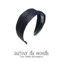 오뜨르 뒤 몽드(AUTOUR DU MONDE) PLEATS HAIRBAND (NAVY)
