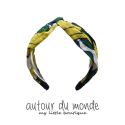 오뜨르 뒤 몽드(AUTOUR DU MONDE) LINEN BANANA HAIRBAND (YELLOW)