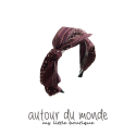 오뜨르 뒤 몽드(AUTOUR DU MONDE) FALL DOT RIBBON HAIRBAND (BURGUNDY)