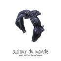 오뜨르 뒤 몽드(AUTOUR DU MONDE) PLEATS RIBBON HAIRBAND(GRAY)