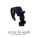 오뜨르 뒤 몽드(AUTOUR DU MONDE) PLEATS RIBBON HAIRBAND(NAVY)