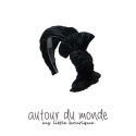 오뜨르 뒤 몽드(AUTOUR DU MONDE) PLEATS RIBBON HAIRBAND(BLACK)