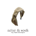 오뜨르 뒤 몽드(AUTOUR DU MONDE) LAYERED RIBBON HAIRBAND(BEIGE)