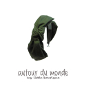오뜨르 뒤 몽드(AUTOUR DU MONDE) LAYERED RIBBON HAIRBAND(KHAKI)