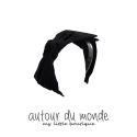LAYERED RIBBON HAIRBAND(BLACK)