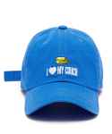 [unisex]I LOVE MY COUCH BLUE BALL CAP