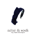 오뜨르 뒤 몽드(AUTOUR DU MONDE) ANGORA RIBBON HAIRBAND (NAVY)