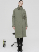 이콤마이(ECOMMAE) [16 WINTER] high-neck padding coat (khaki)