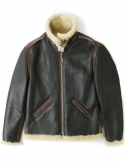 아웃스탠딩() TYPE B-6 MOUTON FLIGHT JACKET [DARK BROWN]