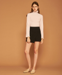 아오엠크(AOEMQ) SHORT A-LINE SKIRT BLACK